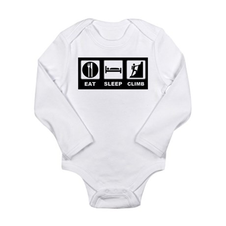 eat seep climb Long Sleeve Infant Bodysuit