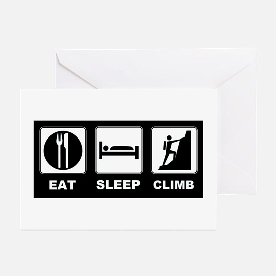 eat seep climb Greeting Cards (Pk of 20)
