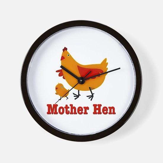 Mother Hen Chicken Wall Clock