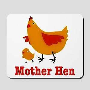 Mother Hen Chicken Mousepad