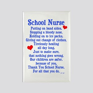 School Nurse Rectangle Magnet