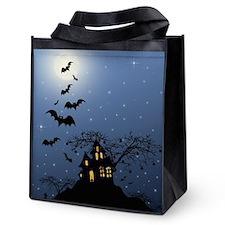 Halloween House Reusable Grocery Tote Bag