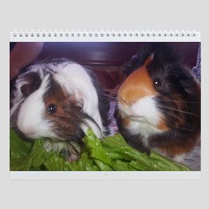 Guinea Pig 12 month Wall Calendar