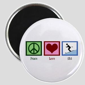 Peace Love Ski Magnet