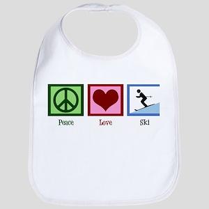 Peace Love Ski Bib
