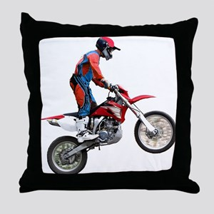 Helaine's Dirt Cycle Throw Pillow