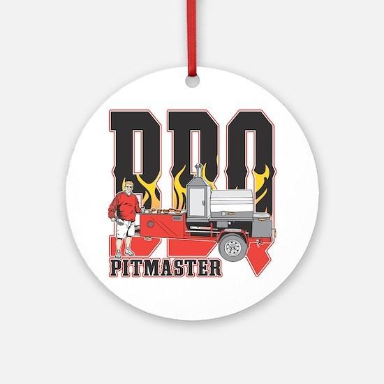 BBQ Pit master Round Ornament