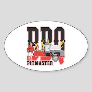 BBQ Pit master Sticker (Oval)
