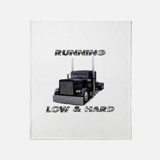 Running Low & Hard Throw Blanket