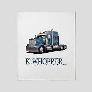 K Whopper Throw Blanket