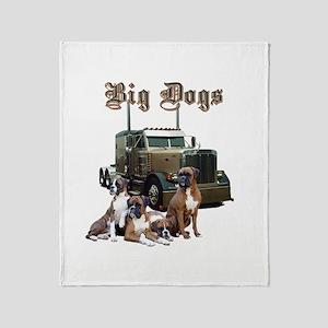 Big Dogs Throw Blanket
