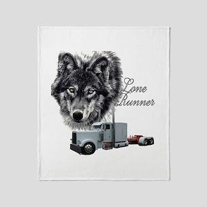 Lone Runner Throw Blanket