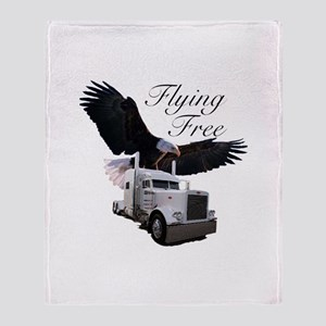 Flying Free Throw Blanket