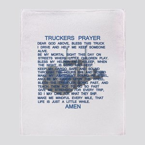 Trucker's Prayer Throw Blanket