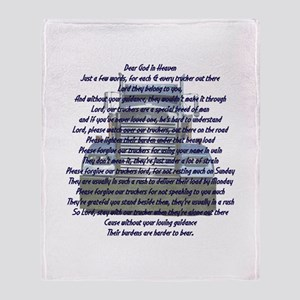 Dear God in Heaven Throw Blanket