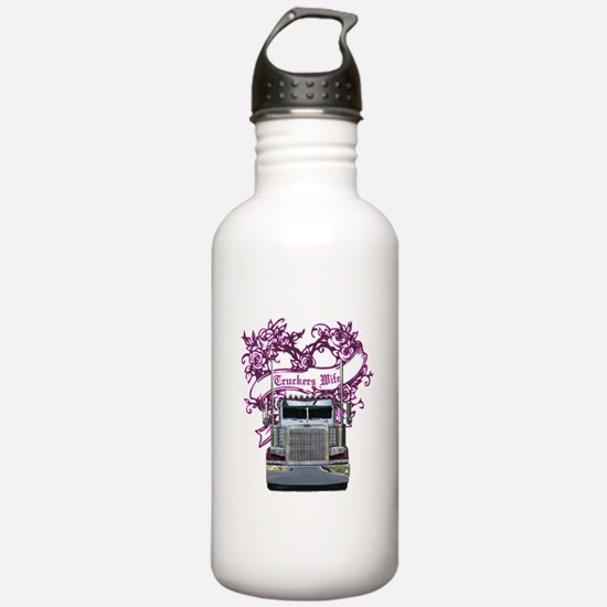 Truckers Wife Water Bottle