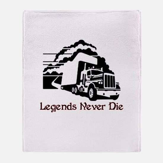 Legends Never Die Throw Blanket