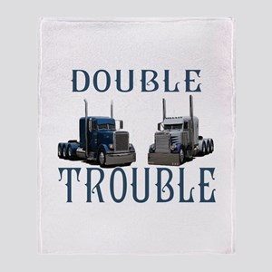 Double Trouble Throw Blanket