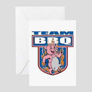 Team Pork BBQ Greeting Card