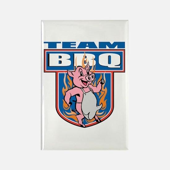 Team Pork BBQ Rectangle Magnet
