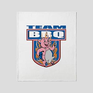 Team Pork BBQ Throw Blanket