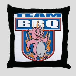 Team Pork BBQ Throw Pillow