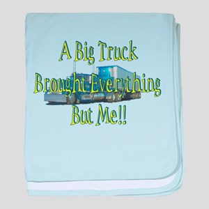 A Big Truck Brought Everythin baby blanket