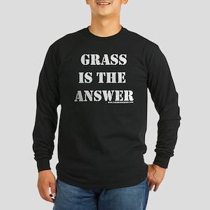 Grass is the Answer Long Sleeve Dark T-Shirt