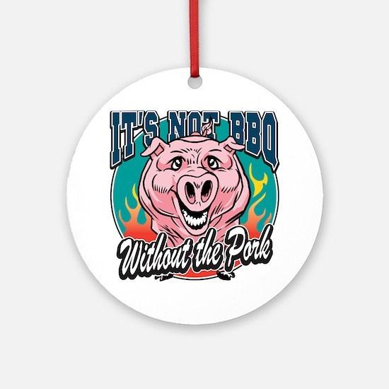 BBQ Pork Ornament (Round)