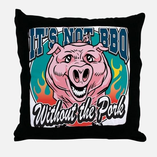 BBQ Pork Throw Pillow