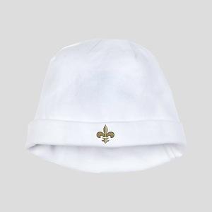 Fleur de lis black gold baby hat