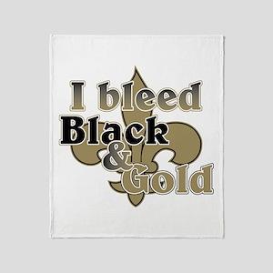 Bleed Black & Gold Throw Blanket