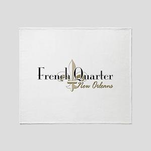 French Quarter NO Throw Blanket