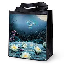 Lotus Pond Reusable Grocery Tote Bag