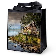 Wildlife Landscape Reusable Grocery Tote Bag