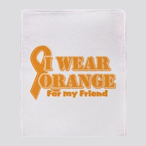 I wear orange friend Throw Blanket