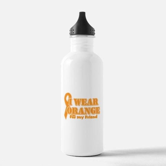 I wear orange friend Water Bottle