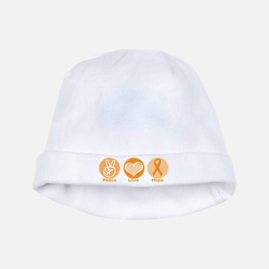 Peace Love Orange Hope baby hat