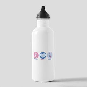 Peace Love BlPk Hope Stainless Water Bottle 1.0L