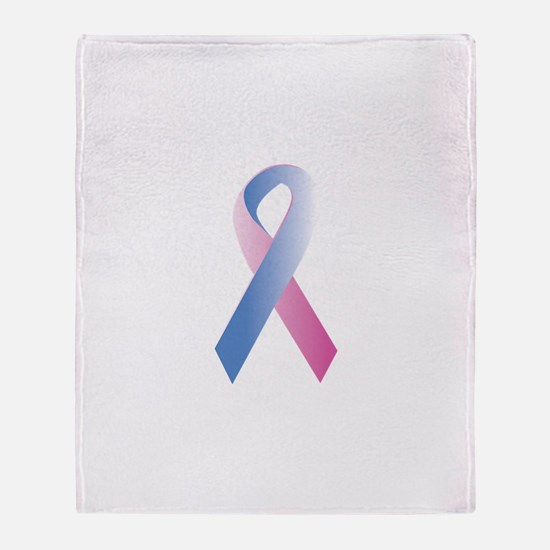Pink Blue Awareness Throw Blanket