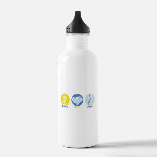 Peace Love Down syn hope Water Bottle