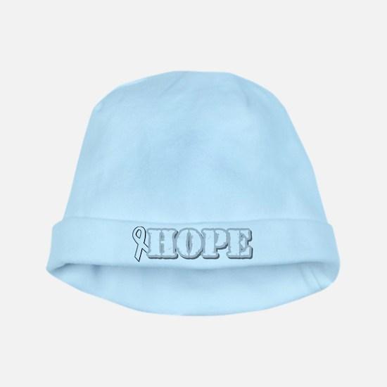 White Hope Ribbon baby hat
