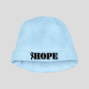 Black Hope Ribbon baby hat