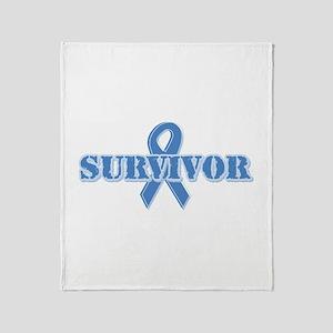 Light Blue Survivor Throw Blanket