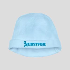 Teal Ribbon Survivor baby hat