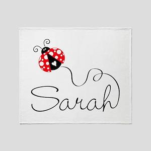 Ladybug Sarah Throw Blanket