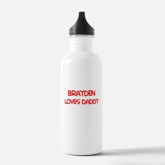 Brayden Loves Daddy Water Bottle