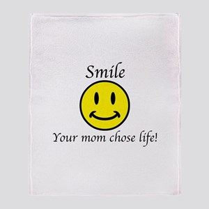 Smile Jesus Throw Blanket