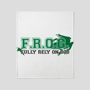 FROG Green Throw Blanket