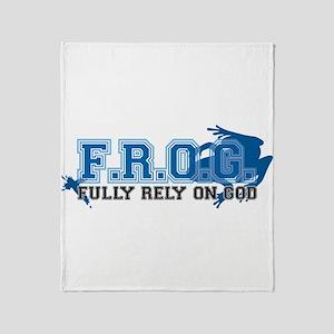 FROG blue Throw Blanket